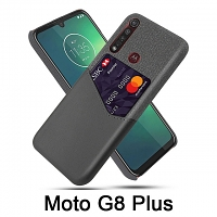 Motorola Mote G8 Plus Two-Tone Leather Case with Card Holder