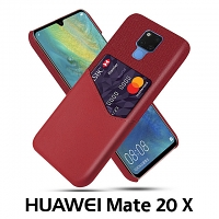 Huawei Mate 20 X Two-Tone Leather Case with Card Holder