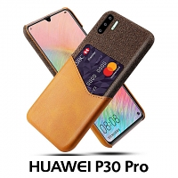 Huawei P30 Pro Two-Tone Leather Case with Card Holder