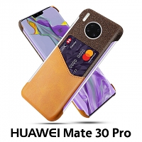 Huawei Mate 30 Pro Two-Tone Leather Case with Card Holder