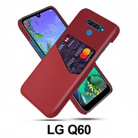 LG Q60 Two-Tone Leather Case with Card Holder