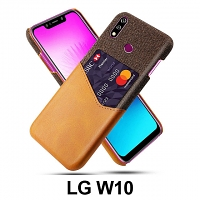LG W10 Two-Tone Leather Case with Card Holder