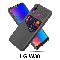 LG W30 Two-Tone Leather Case with Card Holder