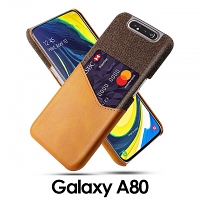 Samsung Galaxy A80/A90 Two-Tone Leather Case with Card Holder