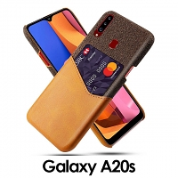 Samsung Galaxy A20s Two-Tone Leather Case with Card Holder