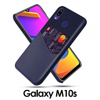 Samsung Galaxy M10s Two-Tone Leather Case with Card Holder