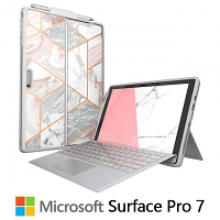 i-Blason Cosmo Slim Designer Case (Pink Marble) for Microsoft Surface Pro 7