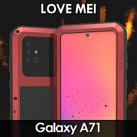 LOVE MEI Samsung Galaxy A71 Powerful Bumper Case