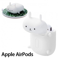 Elecom 3D Animal - Rabbit Silicone AirPods Case
