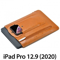 iPad Pro 12.9 (2020) Multi-functional Leather Sleeve