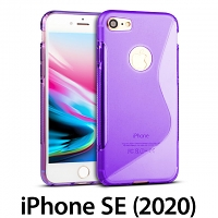iPhone SE (2020) Wave Plastic Back Case