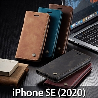 iPhone SE (2020) Retro Flip Leather Case