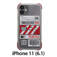 Skinarma Matte Airport Boarding Pass Ticket Case (Tokyo) for iPhone 11 (6.1)