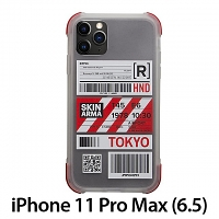 Skinarma Matte Airport Boarding Pass Ticket Case (Tokyo) for iPhone 11 Pro Max (6.5)