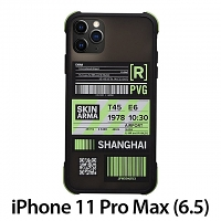 Skinarma Matte Airport Boarding Pass Ticket Case (Shanghai) for iPhone 11 Pro Max (6.5)