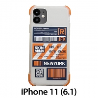 Skinarma Matte Airport Boarding Pass Ticket Case (New York) for iPhone 11 (6.1)