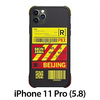 Skinarma Matte Airport Boarding Pass Ticket Case (Beijing) for iPhone 11 Pro (5.8)