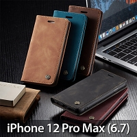 iPhone 12 Pro Max (6.7) Retro Flip Leather Case