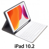 iPad 10.2 Bluetooth Keyboard Case with Apple Pencil Holder