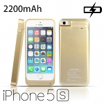 Gold Power Jacket for iPhone 5s - 2200mAh
