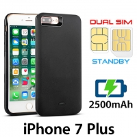 3-In-1 Dual SIM Card Power Jacket for iPhone 7 Plus