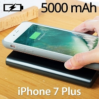 Wireless Charger Power Jacket 5000mAh for iPhone 7 Plus / 6s Plus / 6 Plus