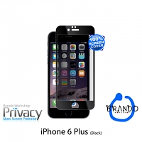 Brando Workshop Full Screen Privacy Glass Protector (iPhone 6 Plus) - Black