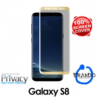 Brando Workshop Full Screen Coverage Curved Privacy Glass Screen Protector (Samsung Galaxy S8) - Gold
