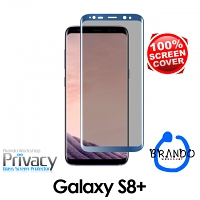 Brando Workshop Full Screen Coverage Curved Privacy Glass Screen Protector (Samsung Galaxy S8+) - Blue