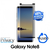 Brando Workshop 96% Half Coverage Curved Privacy Glass Screen Protector (Samsung Galaxy Note8) - Black