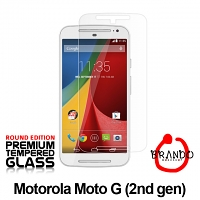 Brando Workshop Premium Tempered Glass Protector (Rounded Edition) (Motorola Moto G (2nd gen))
