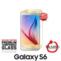 Brando Workshop Full Screen Coverage Glass Protector (Samsung Galaxy S6) - Gold