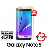 Brando Workshop Full Screen Coverage Glass Protector (Samsung Galaxy Note5) - Gold