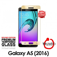 Brando Workshop Full Screen Coverage Glass Protector (Samsung Galaxy A5 (2016) A5100) - Gold