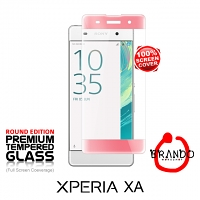 Brando Workshop Full Screen Coverage Curved Glass Protector (Sony Xperia XA) - Rose Gold