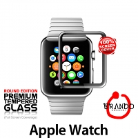 Brando Workshop Full Screen Coverage Curved Glass Protector (Apple Watch) – Black