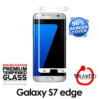 Brando Workshop 96% Half Coverage Curved Glass Protector (Samsung Galaxy S7 edge) - White