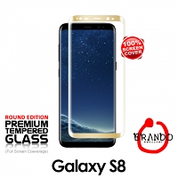 Brando Workshop Full Screen Coverage Glass Protector (Samsung Galaxy S8) - Gold