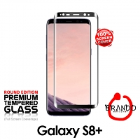 Brando Workshop Full Screen Coverage Glass Protector (Samsung Galaxy S8+) - Black
