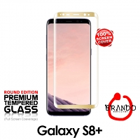 Brando Workshop Full Screen Coverage Glass Protector (Samsung Galaxy S8+) - Gold