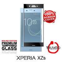 Brando Workshop Full Screen Coverage Glass Protector (Sony Xperia XZs) - Black