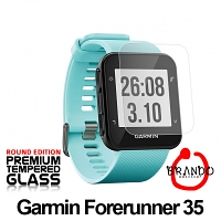 Brando Workshop Premium Tempered Glass Protector (Rounded Edition) (Garmin Forerunner 35)