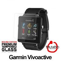 Brando Workshop Premium Tempered Glass Protector (Rounded Edition) (Garmin Vivoactive)
