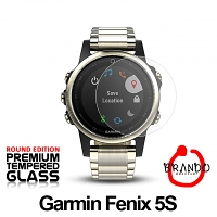 Brando Workshop Premium Tempered Glass Protector (Rounded Edition) (Garmin Fenix 5S)