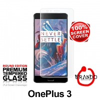 Brando Workshop Full Screen Coverage Curved Glass Protector (OnePlus 3) - Transparent