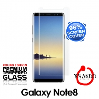 Brando Workshop 96% Half Coverage Curved Glass Protector (Samsung Galaxy Note8) - Transparent