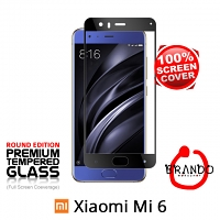 Brando Workshop Full Screen Coverage Glass Protector (Xiaomi Mi 6) - Black