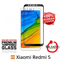 Brando Workshop Full Screen Coverage Glass Protector (Xiaomi Redmi 5) - Black