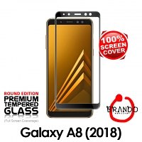 Brando Workshop Full Screen Coverage Curved Glass Protector (Samsung Galaxy A8 (2018)) - Black