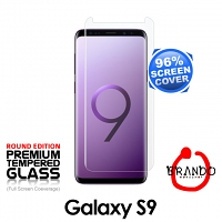 Brando Workshop 96% Half Coverage Curved Glass Protector (Samsung Galaxy S9) - Transparent
